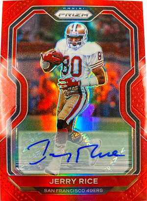 Base Auto Prizm Red Jerry Rice
