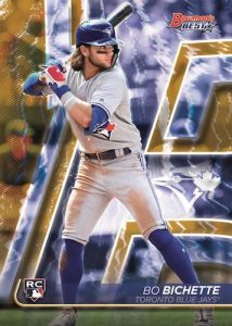 Base Veterans and Rookies Gold Refractor Bo Bichette MOCK UP