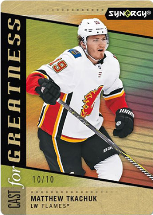 Cast for Greatness Metal Gold Matthew Tkachuk MOCK UP