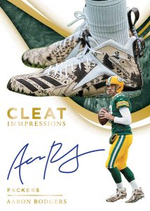 Cleat Impressions Auto Aaron Rodgers MOCK UP
