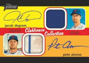 Clubhouse Collection Dual Auto Relic Jacob DeGrom, Pete Alonso MOCK UP