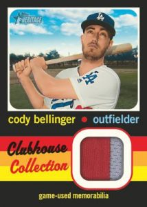 Clubhouse Collection Relics Cody Bellinger MOCK UP