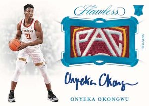 Horizontal Rookie Patch Auto Onyeka Okongwo MOCK UP