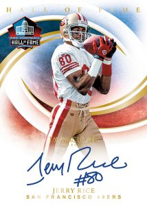 Immaculate HOF Signatures Jerry Rice MOCK UP