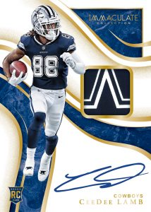 Immaculate Signature Patches Rookie CeeDee Lamb MOCK UP