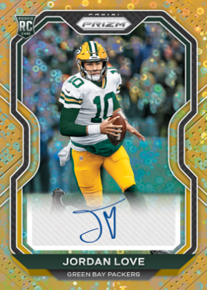 Rookie Auto Prizm No Huddle Gold Jordan Love MOCK UP