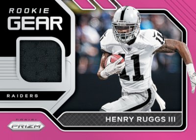Rookie Gear Relics Pink Henry Ruggs III MOCK UP