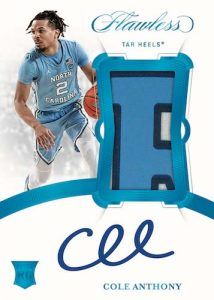 Vertical Rookie Patch Auto Cole Anthony MOCK UP