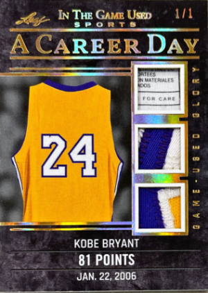 A Career Day Relics Gold Kobe Bryant