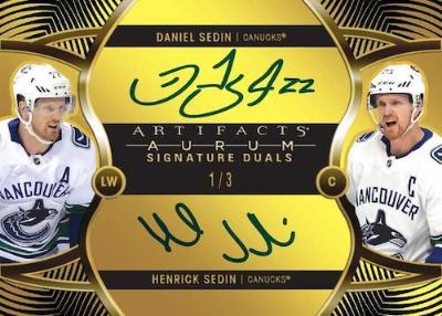 Aurum Dual Signatures Henrick Sedin, Daniel Sedin MOCK UP