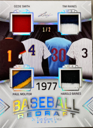 Baseball Redraft Silver Ozzie Smith, Tim Raines, Paul Molitor, Harold Baines