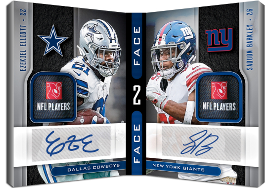 Face to Face Signatures Premium Ezekiel Elliott, Saquon Barkley MOCK UP