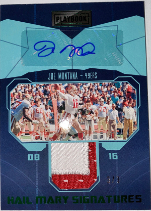 Hail Mary Signatures Green Joe Montana