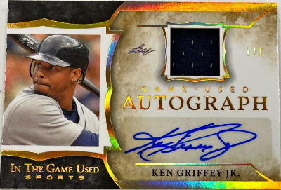 In the Game Used Autograph Gold Ken Griffey Jr