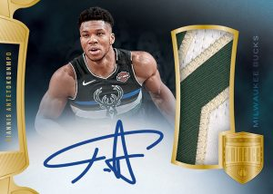 Jumbo Patch Auto Gold Giannis Antetokounmpo MOCK UP