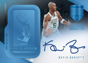 Larry O'Brien Trophy Signatures Platinum Bar Kevin Garnett MOCK UP