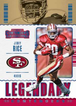 Legendary Contenders Sapphire Jerry Rice MOCK UP
