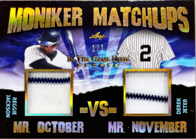Moniker Matchups Gold Reggie Jackson, Derek Jeter