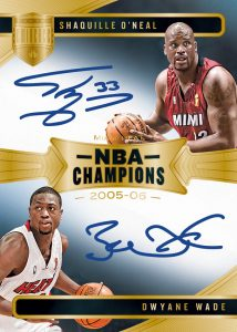 NBA Champions Dual Auto Shaquille O'Neal, Dwayne Wade MOCK UP