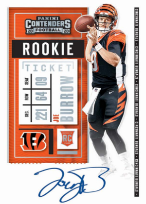 Rookie Ticket RPS Joe Burrow MOCK UP