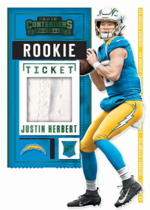 Rookie Ticket Swatches Justin Herbert MOCK UP