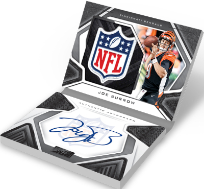 Rookies Playbook Jersey Auto NFL Shield Joe Burrow MOCK UP