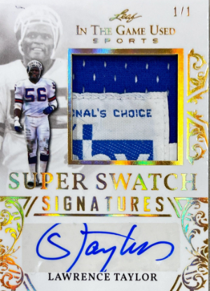 Super Swatch Signatures Gold Lawrence Taylor