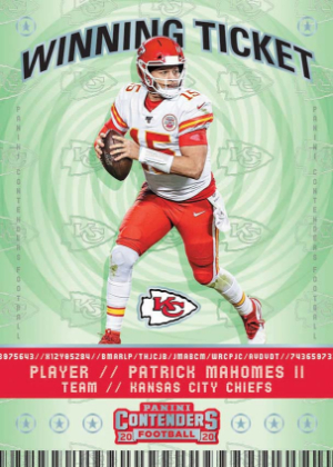 Winning Ticket Patrick Mahomes II MOCK UP