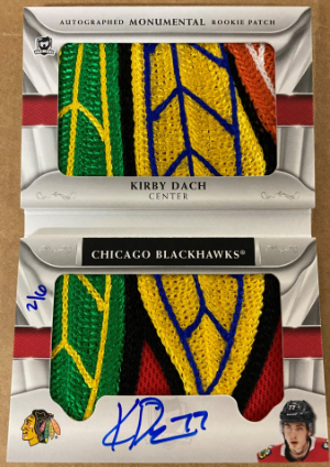 Auto Monumental Rookie Patch Booklet Kirby Dach