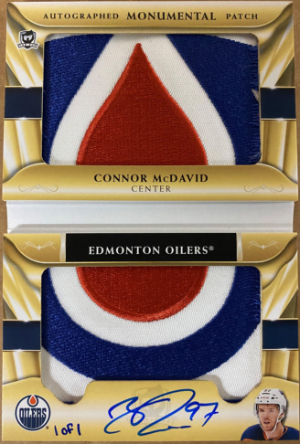 Auto Monumental Patch Booklet Connor McDavid