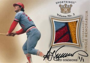 Auto Single Memorabilia Ted Simmons MOCK UP