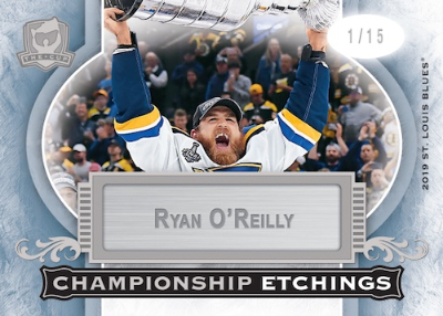 Championship Etchings Silver Nameplate Ryan O'Reilly MOCK UP