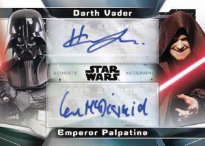 Dual Auto McDiarmid as Emperor Palpatine, Hayden Christensen as Darth Vader MOCK UP