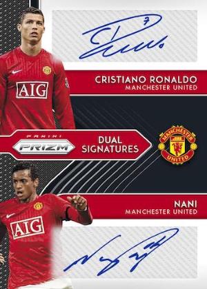 Dual Signatures Black Prizms Cristiano Ronaldo, Nani MOCK UP