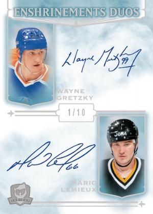 Enshrinements Duo Auto Wayne Gretzky, Mario Lemieux MOCK UP