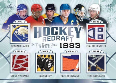 Hockey Redraft Dominik Hasek, Steve Yzerman, Cam Neely, Pat LaFontaine, Tom Barrasso, Clause Lemieux MOCK UP