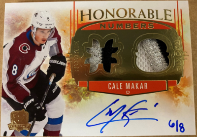 Honorable Numbers Auto Patch Cale Makar