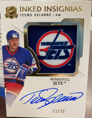 Inked Insignias Manufactured Patch Auto Teemu Selanne