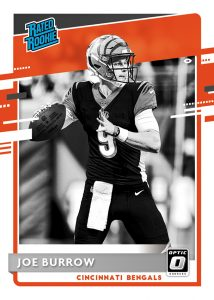 Rated Rookies Variations Joe Burrow MOCK UP