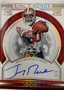 Ring of Honor Auto Gold Spotlight Jerry Rice