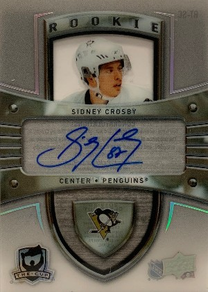 Rookie Tribute Auto - 2005-06 The Cup Rookies Sidney Crosby