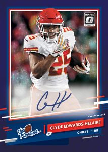 The Rookies Auto Purple Star Clyde Edwards-Helaire MOCK UP