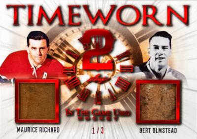Timeworn 2 Red Maurice Richard, Bert Olmstead