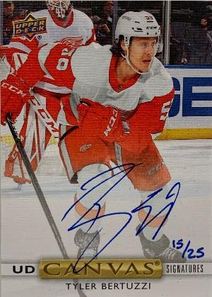 UD Canvas Signatures Tyler Bertuzzi