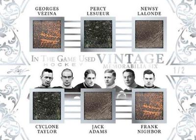Vintage Memorabilia 6 Georges Vezina, Percy Lesueur, Newsy Lalonde, Cyclone Taylor, Jack Adams, Frank, Nighbor MOCK UP