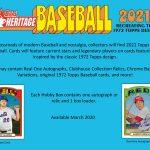 2021 Topps Heritage Baseball