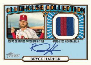 Clubhouse Collection Auto Relic Bryce Harper MOCK UP