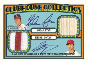Clubhouse Collection Dual Auto Relic Nolan Ryan, Shohei Ohtani MOCK UP