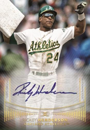 Defining Images Auto Collection Rickey Henderson MOCK UP