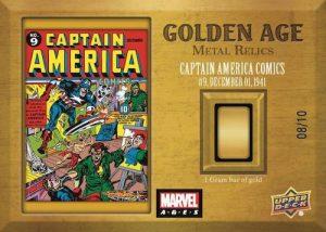 Metal Relics Captain America Comics MOCK UP